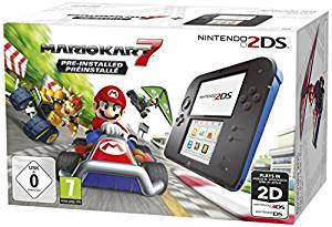 77€ Nintendo 2DS – Konsole (schwarz) inkl. Mario Kart 7 (vorinstalliert)
