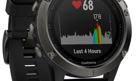 359,20€ Garmin fēnix 5 GPS-Multisport-Smartwatch – 24/7 Herzfrequenzmessung am Handgelenk, zahlreiche Sport- & Navigationsfunktionen, 1,2 Zoll (3cm) Farbdisplay
