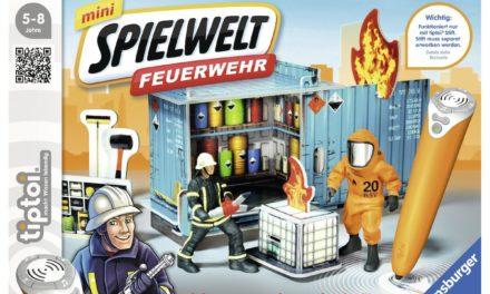 6,49€ Ravensburger 00774 – tiptoi mini Spielwelt Feuerwehr: Gefahrguteinsatz