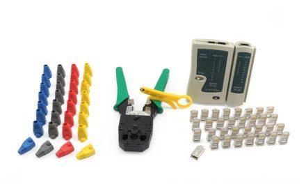 11,99€ Incutex Netzwerk Werkzeug Set 66tlg. Crimpzange Kabeltester Netzwerkstecker Kunststoffhülsen Kabelschneider