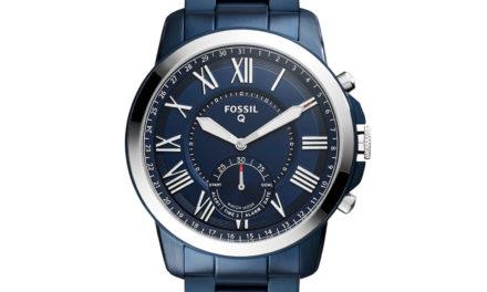 99€ Fossil Herren Hybrid Smartwatch Q Grant – Edelstahl – Blau / Analoge Quarz Herrenuhr im klassischen & eleganten Stil mit Smartfunktionen / Für Android & iOS