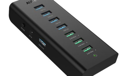 Beendet – 15,99€ AUKEY CB-H19 USB 3.0 Hub 4 Port SuperSpeed 5Gbps mit 3 Ladeport 2.4A mit 36W Netzadapter, On / Off Switch und USB 3.0 Kabel 3.3ft / 1m USB Hub für Windows XP / Vista / 7 / 8 / 10, Mac OS, Linux, usw. – Schwarz