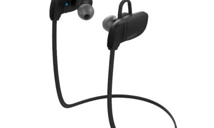 Beendet – 6,80€ AUKEY Sport Kopfhörer Bluetooth 4.1 in Ear Wireless Headset mit Mikrofon und Fernedienung, 7 Stunden Spielzeit Gleichzeitig 2-Link für Smartphones und vieles mehr