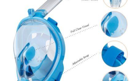 18,96€ Schnorchelmaske Tauchmaske 180° Blickfeld Vollmaske für GoPro Kamera mit Anti-Fog und Anti-Leak,Easybreath Taucherbrille für Erwachsene und Kinder