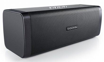 Beendet – 109,95€ DOCKIN D FINE 50W Stereo Bluetooth Lautsprecher mit Powerbank, 10 Stunden Akku, Wasserschutz für Laptop, Iphone, Android und Tablet