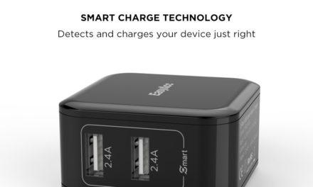 8,16€ EasyAcc TR2U48A-BDE USB Ladegerät Netzteil 24W 2-Port Ladeadapter Schwarz