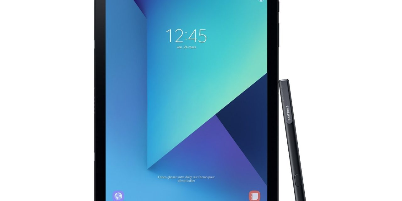 409€ Samsung Galaxy Tab S3 T820 24,58 cm (9,68 Zoll) Touchscreen Tablet PC (Quad Core 4GB RAM 32GB eMMC WiFi Android 7,0) schwarz inkl S Pen