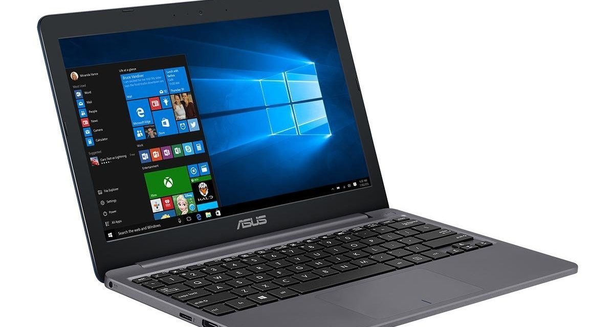 229€ Asus E203NA-FD029TS 29,4 cm (11,6 Zoll) Notebook (Intel Dual-Core Celeron N3350 Processor, 4GB RAM, Intel HD Graphics 500, Win 10) grau