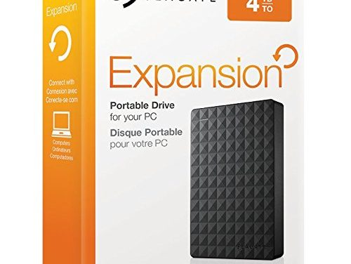 99,95€ Seagate Expansion Portable, 4TB, externe tragbare Festplatte; USB 3.0, PC & PS4 (STEA4000400)