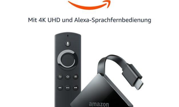 64,99€ Das neue Fire TV mit 4K Ultra HD und Alexa-Sprachfernbedienung (Anhängerform)