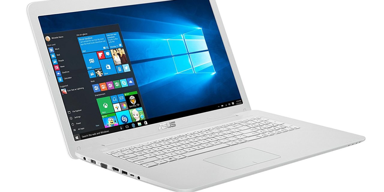 Beendet – 699€ Asus F756UQ-T4350T 43,9 cm (17,3 Zoll mattes FHD) Notebook (Intel Core i5-7200U, 8GB RAM, 256GB SSD, 1TB HDD, NVIDIA GeForce 940MX, DVD-Laufwerk, Win 10 Home) weiß