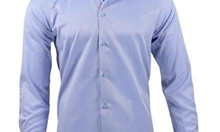 14,95€ Captain Slim Fit Herren Hemden (in 30 Verschiedenen Farben) Langarm-Hemd 100% Baumwolle