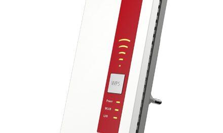 54,99€ AVM FRITZ!WLAN Repeater 1750E (Dual-WLAN AC + N bis zu 1.300 MBit/s 5 GHz + 450MBit/s 2,4 GHz), Rot/Weiß, deutschsprachige Version