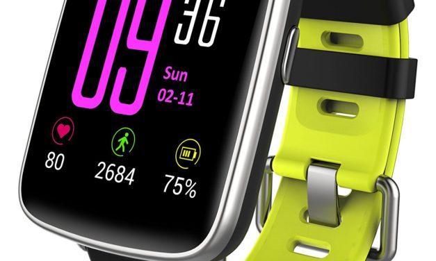 Beendet – 45,04€ Smartwatch,YAMAY Bluetooth Smart Watch Uhr mit Pulsmesser Armbanduhr Wasserdicht IP68 Fitness Tracker Armband Sport Uhr Fitnessuhr mit Schrittzähler
