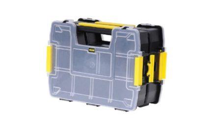 6,68€ Stanley Sortmaster Doppelorganizer Werkzeugbox leer STST1-71197/Stapelbarer Werkzeugkasten mit entnehmbare Einsätzen & kombinierbar mit bis zu zwei weiteren Organizern
