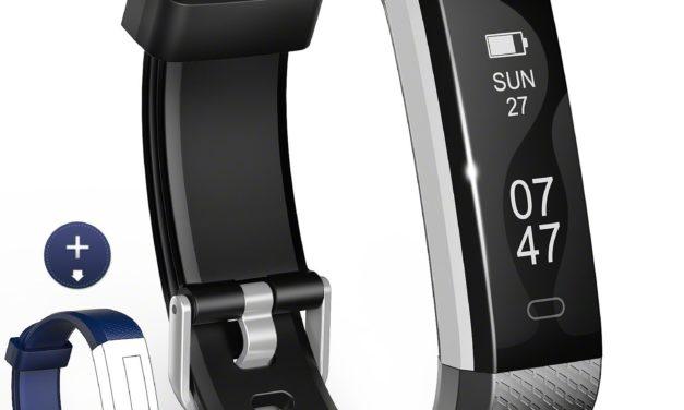 19,99€ Fitness Tracker, Wesoo Fitness Armbänder mit Ersatzband, Schrittzähler Armband mit Schlafmonitor Kalorienzähler Wecker