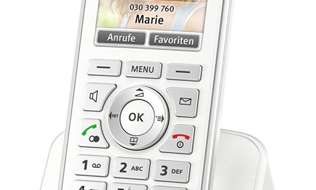 44€ AVM FRITZ!Fon C4 Telefon (Farbdisplay, beleuchtete Tastatur) weiß, deutschsprachige Version