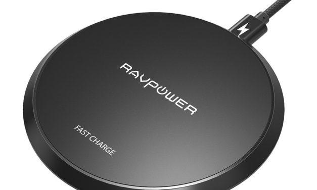 8,49€ Wireless Charger RAVPower 10W Qi wireless Ladegerät kabelloses Schnellladegerät für Samsung Galaxy S9, S9 Plus, S8, S8 Plus, Note 8 und 5W für iPhone X, iPhone 8, iPhone 8 Plus anderen Qi-fähigen Geräte