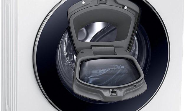 446€ Samsung WW8EK5400UW/EG AddWash Waschmaschine FL/A+++/116 kWh/Jahr/1400 UpM/8 kg/Weiß/Add Wash/Smart Check/Digital Inverter Motor