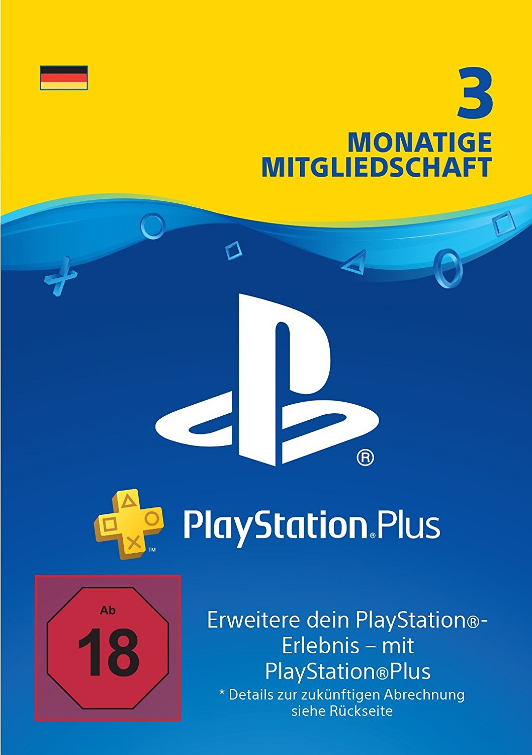 18,74€ PlayStation Plus Mitgliedschaft | 3 Monate | PS4 Download Code – deutsches Konto
