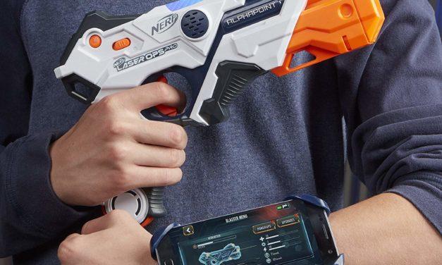 29,74€ Nerf Laser Ops AlphaPoint 2er Pack, LaserTag Blaster mit Licht- und Soundeffekten
