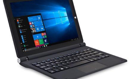 99€ iOTA ONE 25,65cm (10,1 Zoll Full HD) 2-in-1 Detachable Notebook (Intel Atom Z8350, 2 GB RAM, 32 GB Speicher, Touchscreen, Deutsche Tastatur, Windows 10) schwarz