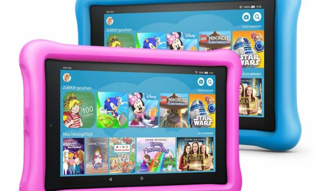 2 für 1 Aktion: 199,98€ Fire HD 8 Kids Edition Tablet Variety Pack, 32 GB, (Blau/Pink) kindgerechte Hülle