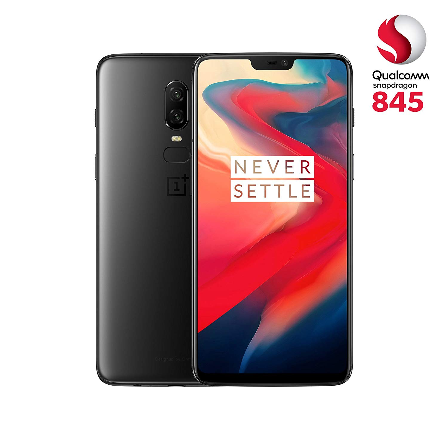 505,39€ OnePlus 6 Smartphone (15,95 cm (6,28 Zoll) 19:9 Touch-Display, 128 GB interner Speicher, Android 8.1 Oreo / Oxygen OS 5.1), Midnight Black