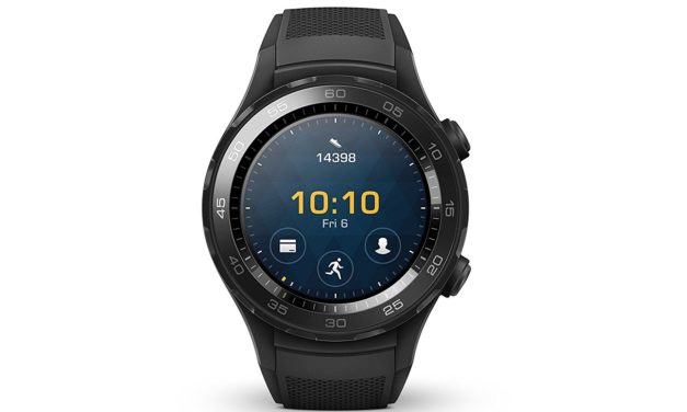 199€ Huawei Watch 2 (Bluetooth) Smartwatch mit Schwarzem Sportarmband (NFC, Bluetooth, WLAN, Android Wear 2.0) schwarz