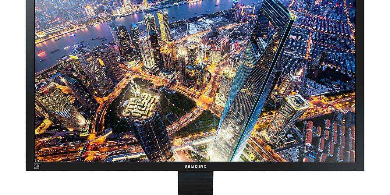 236€ Samsung U28E590D 71,12 cm (28 Zoll) Monitor (HDMI, 1 ms Reaktionszeit, 60 Hz Aktualisierungsrate, 3840 x 2160 Pixel) schwarz/silber