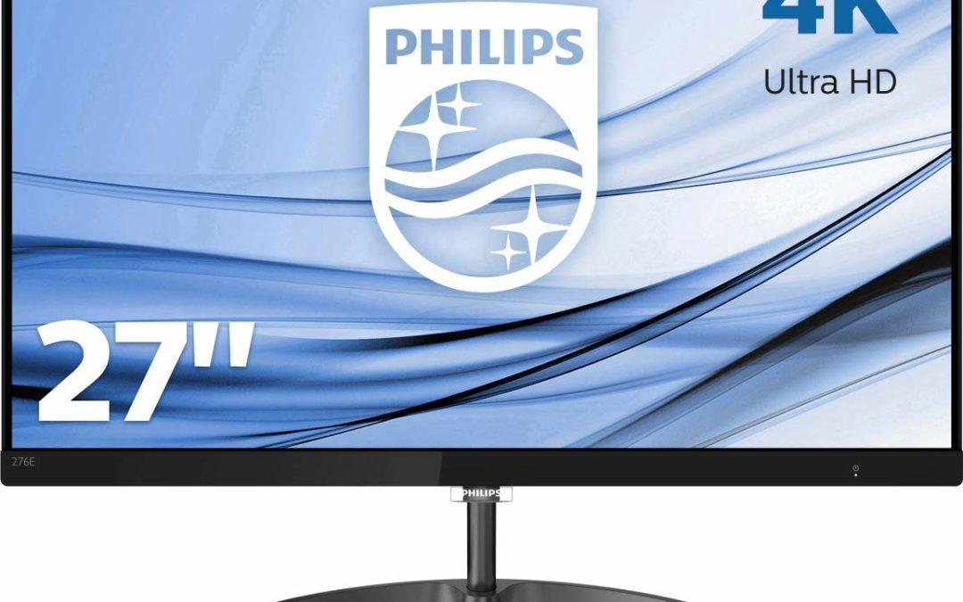234€ Philips 276E8VJSB/00 68 cm (27 Zoll) Monitor (HDMI, DisplayPort, 5ms Reaktionszeit, 3840 x 2160, 60 Hz) schwarz