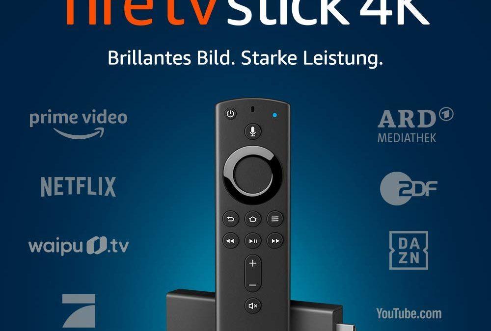 34,99€ Fire TV Stick 4K Ultra HD mit der neuen Alexa-Sprachfernbedienung