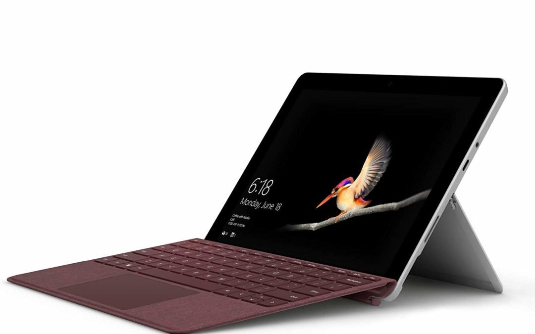 519€ Microsoft Surface Go 25 cm (10 Zoll) 2-in-1 Tablet (Intel Pentium Gold, Intel HD Graphics 615, 8GB RAM, 128GB SSD, Windows 10 im S Modus) + Signature Type Cover Bordeaux Rot