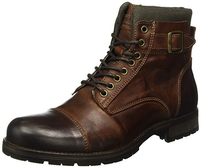 55,99€ JACK & JONES Herren Jfwalbany Leather Brown Stone Noos Klassische Stiefel