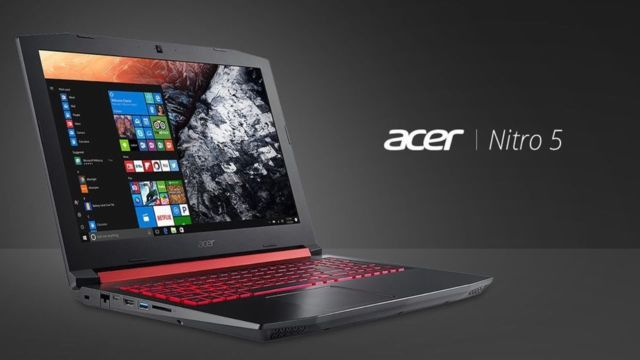 929€ Acer Nitro 5 Gaming Notebook 15,6″ Full HD IPS, Core i7-8750H, GTX 1060 6GB
