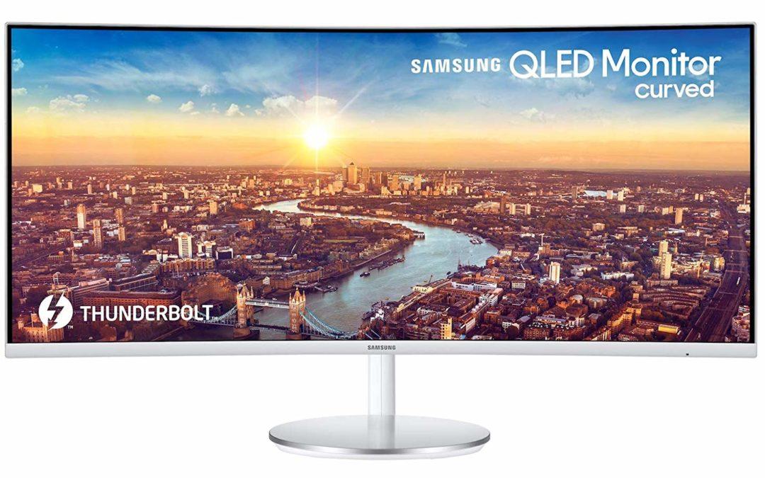 635€ Samsung C34J791W 86,36 cm (34 Zoll) Curved Monitor WQHD Thunderbolt-3 Silber/Weiß