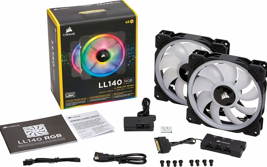 59,90€ 2x Corsair LL140 (PWM-Lüfter) mit Lighting Node & Fan Hub