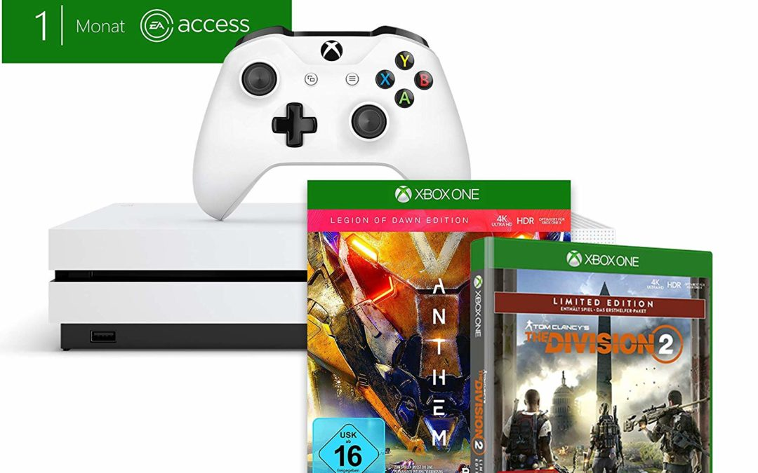 229€ Xbox One S 1TB – Anthem + Tom Clancy's The Division 2 + 1 Monat Game Pass & Gold