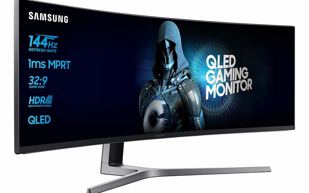 744€ Samsung C49HG90DMU 124,20 cm (49 Zoll) Curved Gaming Monitor (2x HDMI, Display Port, 1ms, USB, 3840 x 1080 Pixel)