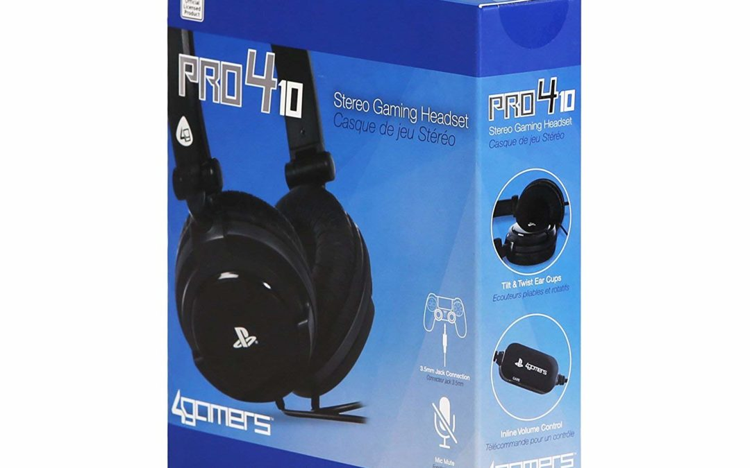 7,85€ 4Gamers PRO4-10 Stereo Gaming Headset (PS4/PS Vita)