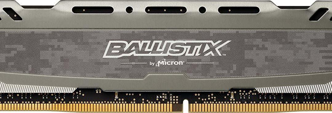 27,90€ Ballistix TM Sport LT 8GB DDR4-3000 CL16