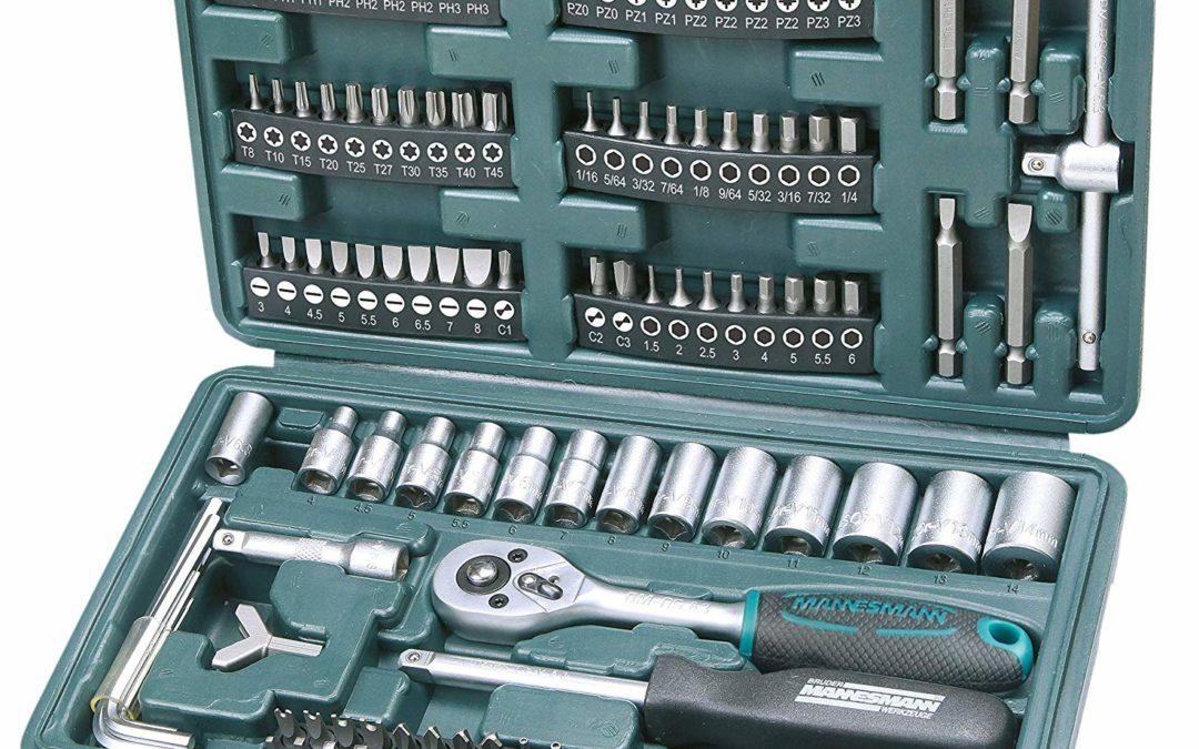 13,99€ Brüder Mannesmann M29166 Steckschlüssel und Bitsatz, 130-tlg