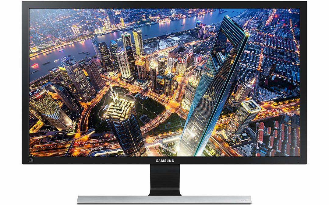 198€ Samsung U28E590D Monitor (HDMI, 28 Zoll, 71,12cm, 1ms Reaktionszeit, 60Hz Aktualisierungsrate, 3840 x 2160 Pixel)