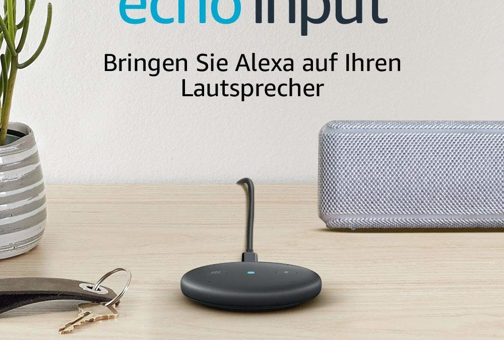 Beendet – 19,99€ Amazon Echo Input – Streaming-Client in weiß/schwarz