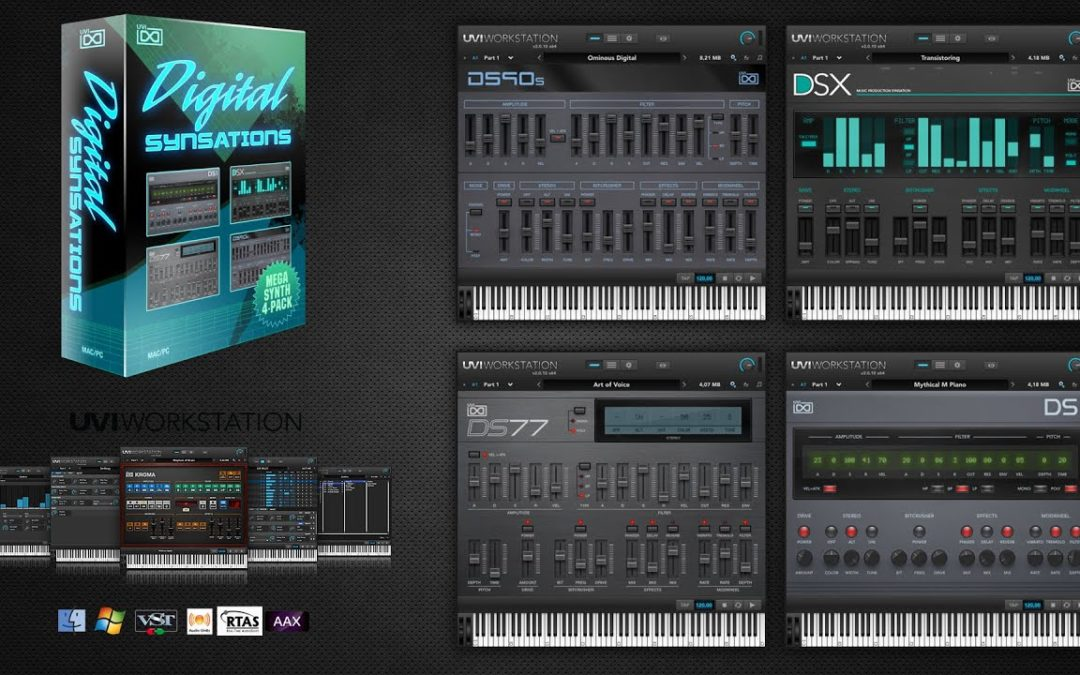 UVI Digital Synsations (Retro/90's Software Synthesizer) kostenlos mit Gutschein